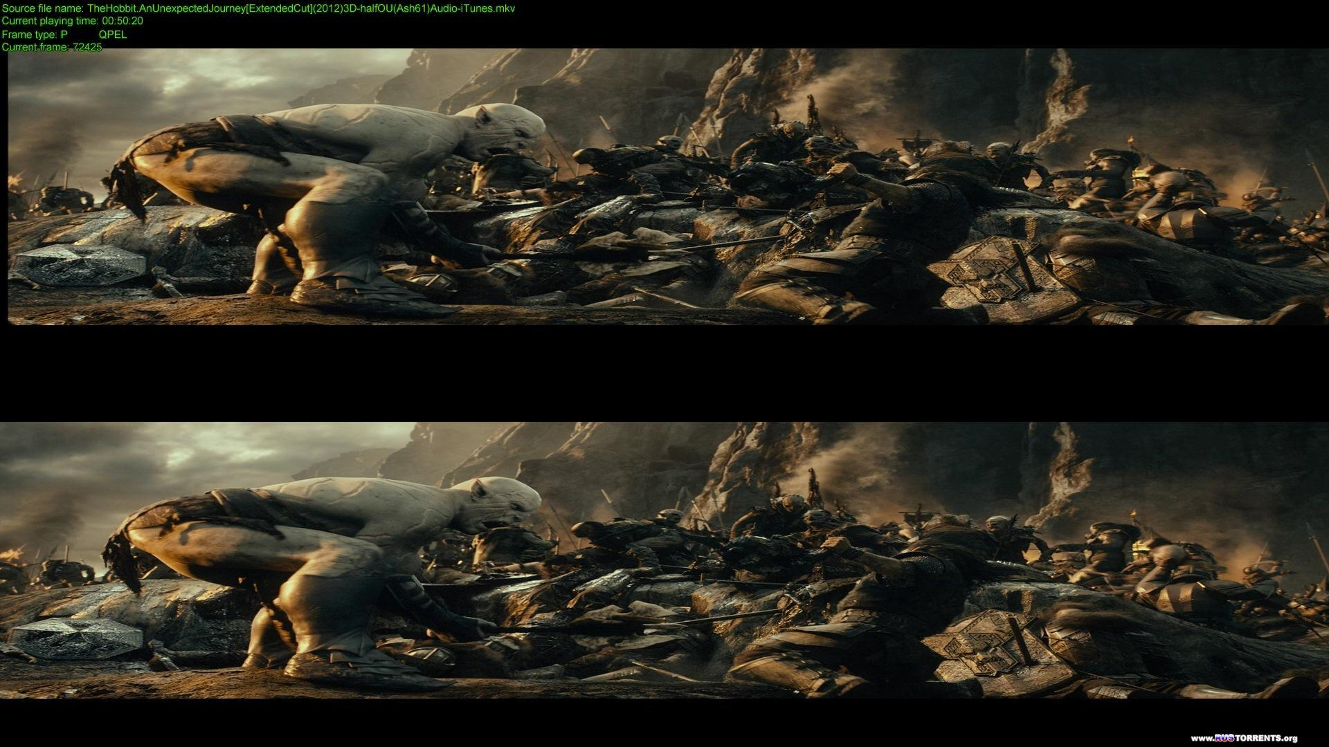Хоббит: Нежданное путешествие | BDRip 1080p | 3D-Video | halfOU