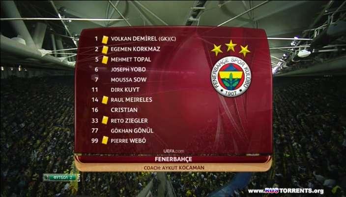 Футбол. Лига Европы 2012-13. 1/2 финала. Первый матч. Фенербахче (Турция) - Бенфика (Португалия) (1 тайм)