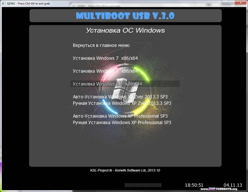 KSL Multiboot USB+WPI v.3.0 (Rus)