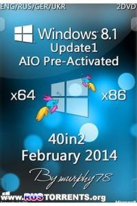 Windows 8.1 Update1 x86 AIO 40in2 Pre-Activated DaRT 8.1 Feb2014 (ENG/RUS/GER/UKR)