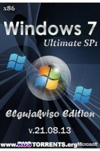 Windows 7 Ultimate SP1 x86 Elgujakviso Edition v.21.08.13 RUS