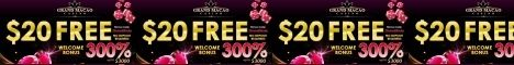 Grand Macao $20 Free Chip Welcome bonus