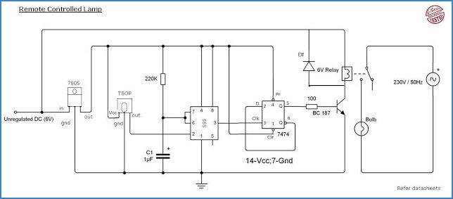remote controlled home appliances using ic 555