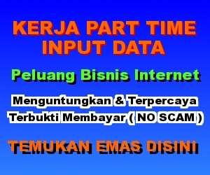 Peluang kerja part time input data online