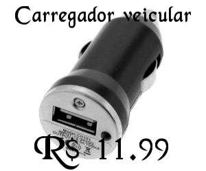 Carregador Veicular por apenas R$ 11.99