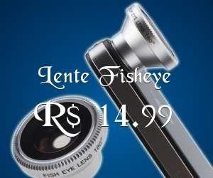 Lente Fisheye para iPhone e Android, apenas R$ 14.99