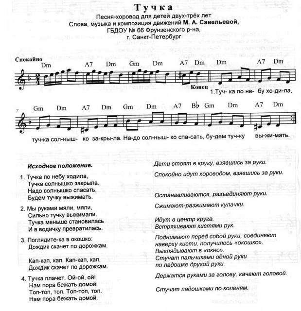 музыкальные игры хороводы с движениями и словами