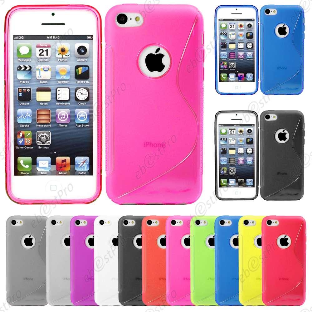 Coque-Silicone-S-line-Gel-Souple-Apple-iPhone-7-6-6S-6S-Plus-SE-5S-5-4S-4