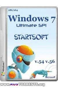Windows 7 Ultimate SP1 x86/x64 StartSoft 54/56 RUS