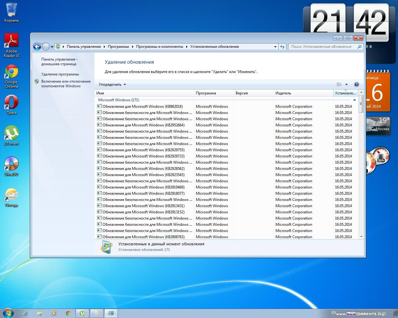 Windows 7 Ultimate SP1 �86/�64 by Loginvovchyk 05.2014 RUS