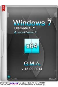 Windows 7 Ultimate SP1 x64 IE11 G.M.A. v.15.09.2014 RUS