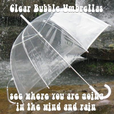 bubble umbrellas click here