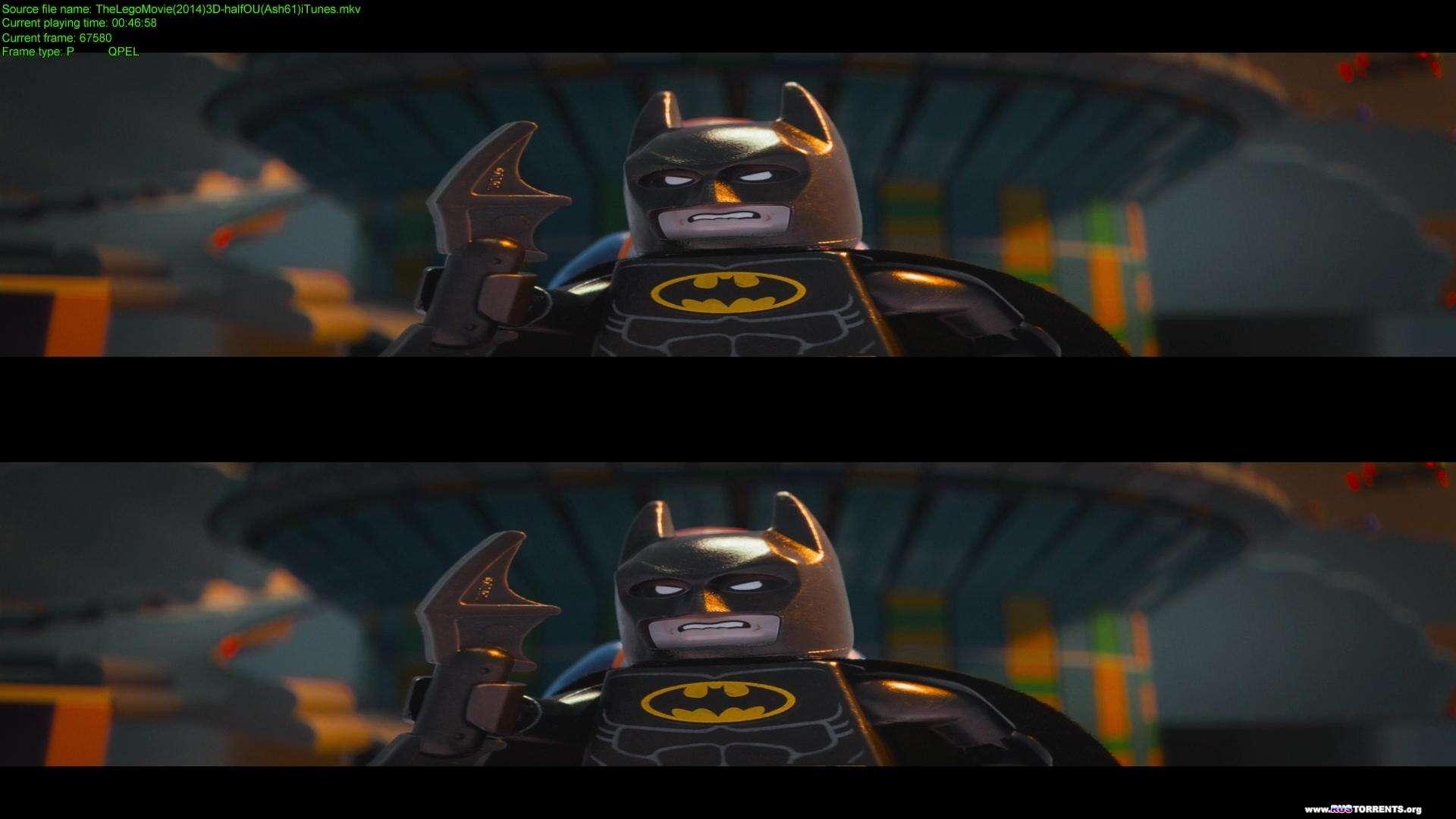 Лего. Фильм | BDRip 1080p | 3D-Video | halfOU | Лицензия