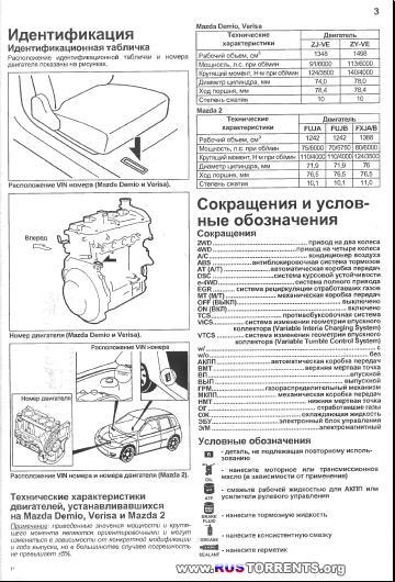 Mazda Demio Verisa Mazda2 Устройство, техническое обслуживание и ремонт