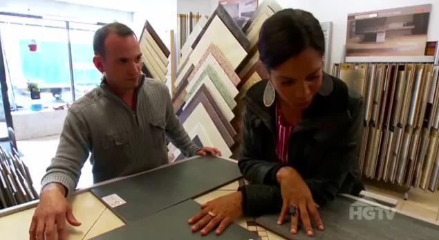 Peter Valerio with Danielle Colding on HGTV