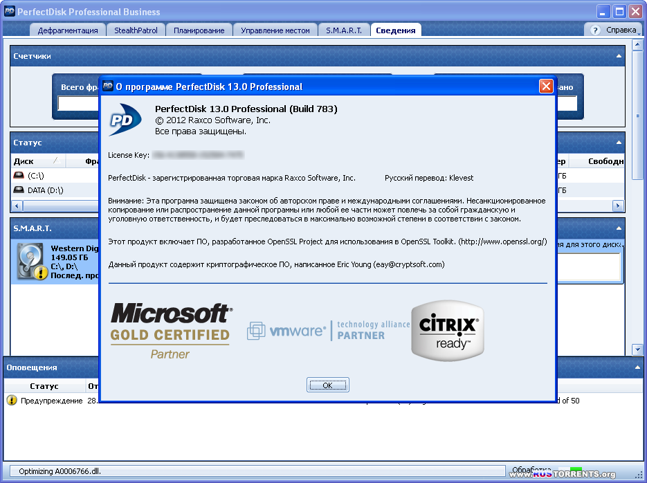 Raxco PerfectDisk Professional Business 13.0 Build 783 Final | RePack by KpoJIuK