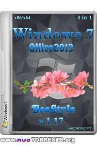 Windows 7 x86/x64 4in1 Office 2013 BeaStyle 1.17 RUS