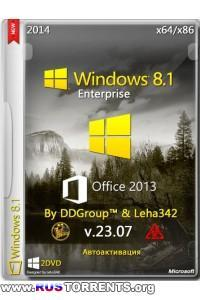 Windows 8.1 Enterprise x64/x86 + Office 2013 Pro Full v.23.07 By DDGroup & Leha342 (23.07.2014) RUS | PC