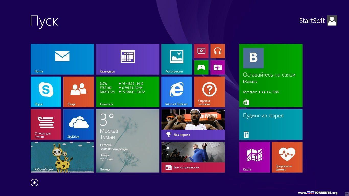 Windows 8.1 Plus PE StartSoft v.01/02 x86/x64 RUS