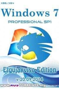 Windows 7 Professional SP1 Elgujakviso Edition х86/х64 v.20.09.14 RUS