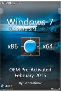 Windows 7 Ultimate SP1 x86/x64 OEM PreActivated Feb 2015 (03.03.2015) ENG/RUS/GER