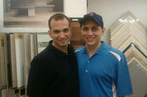 Peter Valerio with Matthew Bonifacio