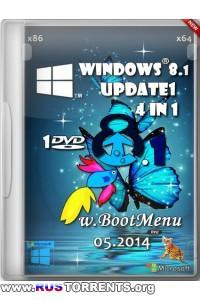Windows 8.1 х86/х64 Update1 4 in 1 w.BootMenu by OVGorskiy 05.2014 1DVD