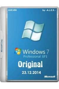 Windows 7 Professional SP1 Original х86/х64 by -A.L.E.X.- (23.12.2014) RUS/ENG