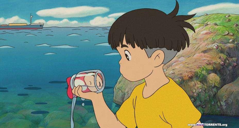 Рыбка Поньо на утесе | BDRip-AVC