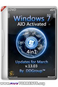 Windows 7 SP1 x64 4in1 AIO Activated Updates for March v.13.03 by DDGroup