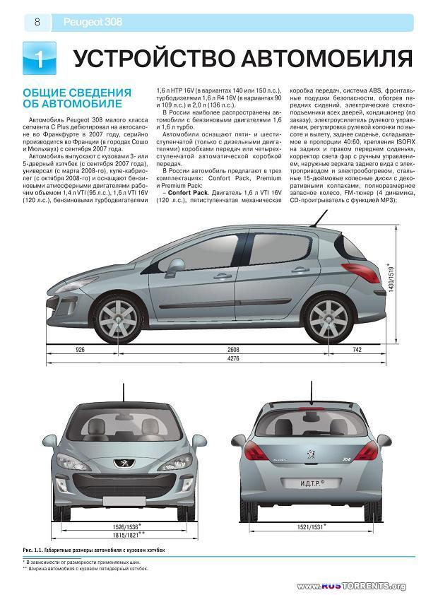 Peugeot 308: ����������� �� ������������, ������������ ������������ �  �������