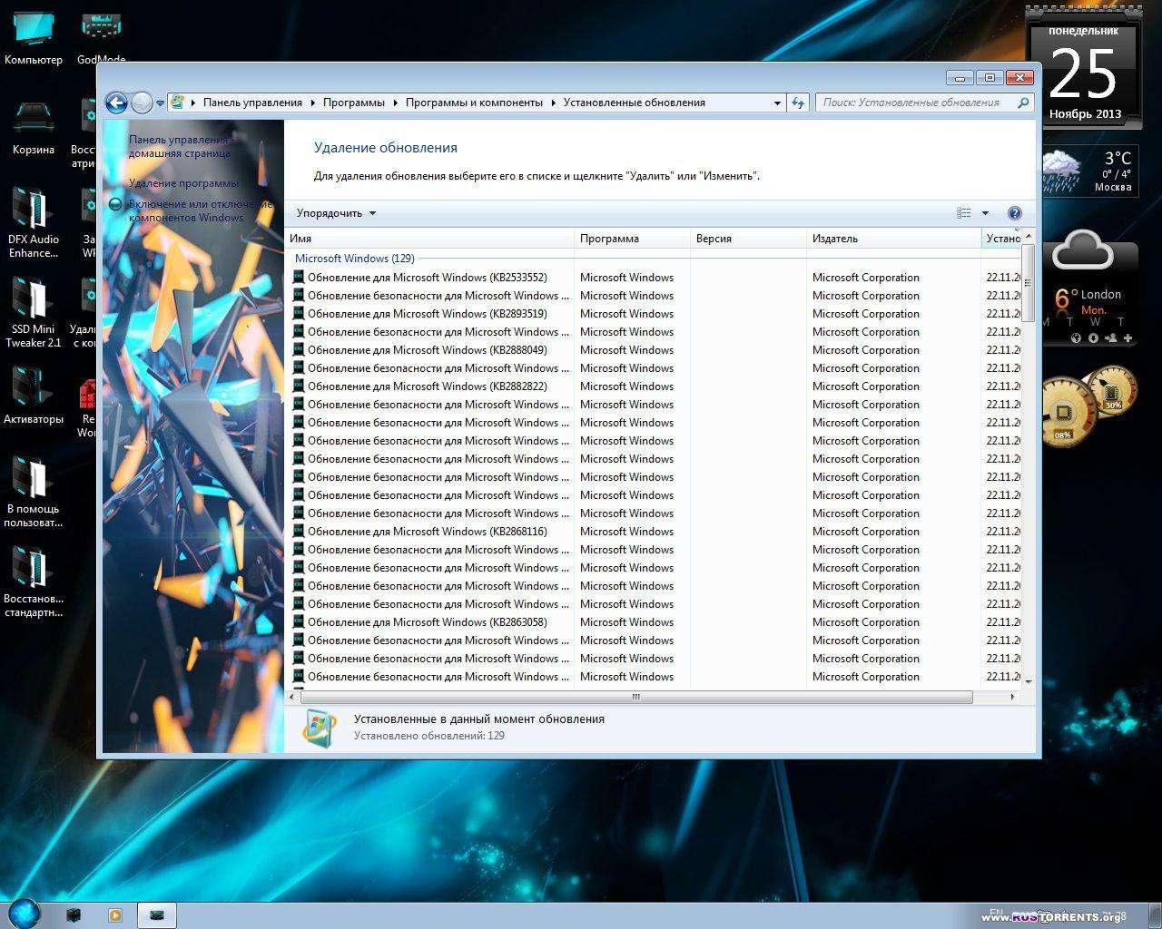 Windows 7 SP1 Ultimate x86/x64 MoN Edition V.2.08 RUS