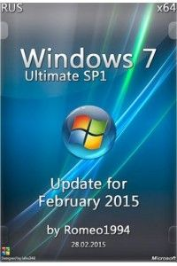 Windows 7 Ultimate x64 Update for February 2015 by Romeo1994 (28.02.2015) RUS