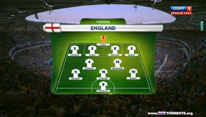 Футбол. Чемпионат Мира 2014. Группа D. 1-й Тур. Англия - Италия | HDTVRip