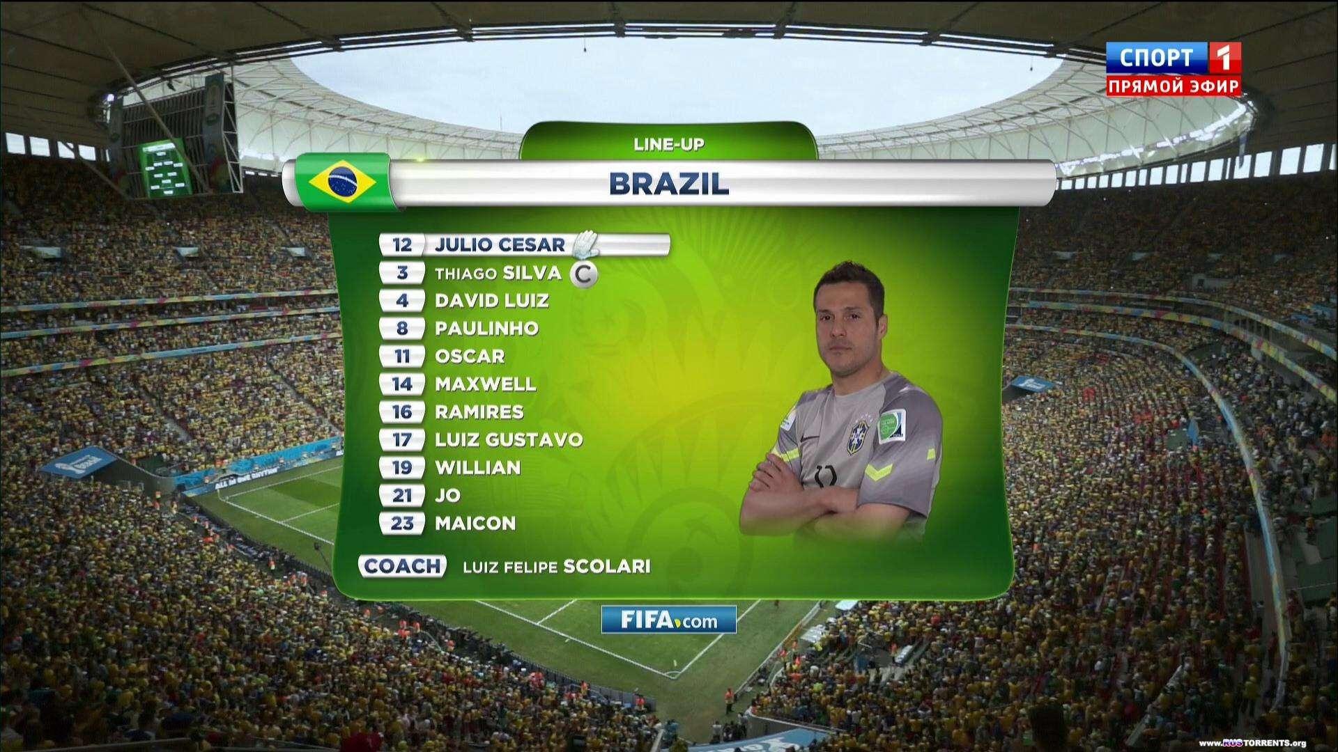 Футбол. Чемпионат мира 2014. Матч за 3 место. Бразилия - Нидерланды + Превью | HDTV 1080i