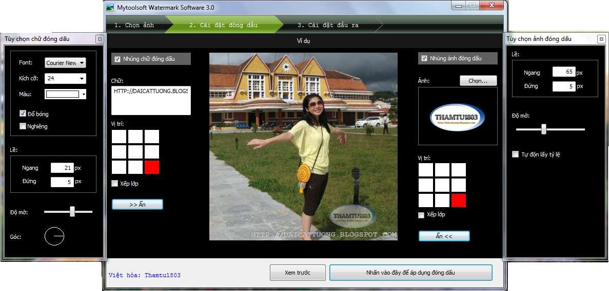 [Việt hóa] Mytoolsoft Watermark Software v.3.0 - Đóng dấu bản quyền cho hàng loại ảnh