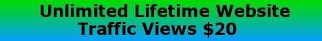 Unlimited Lifetime Website Traffic $20