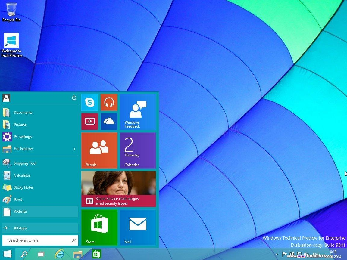 Microsoft Windows 10 Technical Preview x86/x64