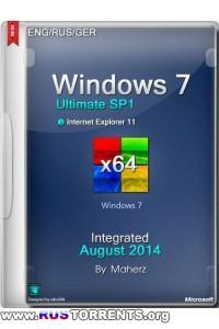Windows 7 Ultimate SP1 x64 Integrated August 2014 By Maherz 19.08.2014