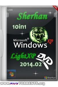 Windows XP SP3 x86 10in1 Sherhan LightXP 2014.02 RUS