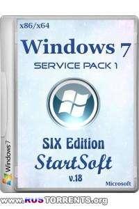 Windows 7 SP1 х86/х64 SIX Edition StartSoft 18 RUS