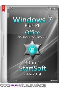 Windows 7 SP1 x86/x64 PE Plus Office 30in1 StartSoft v.46 (23.09.2014) RUS