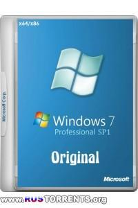 Windows 7 Professional SP1 Original х86/х64 by -A.L.E.X.- RUS/ENG