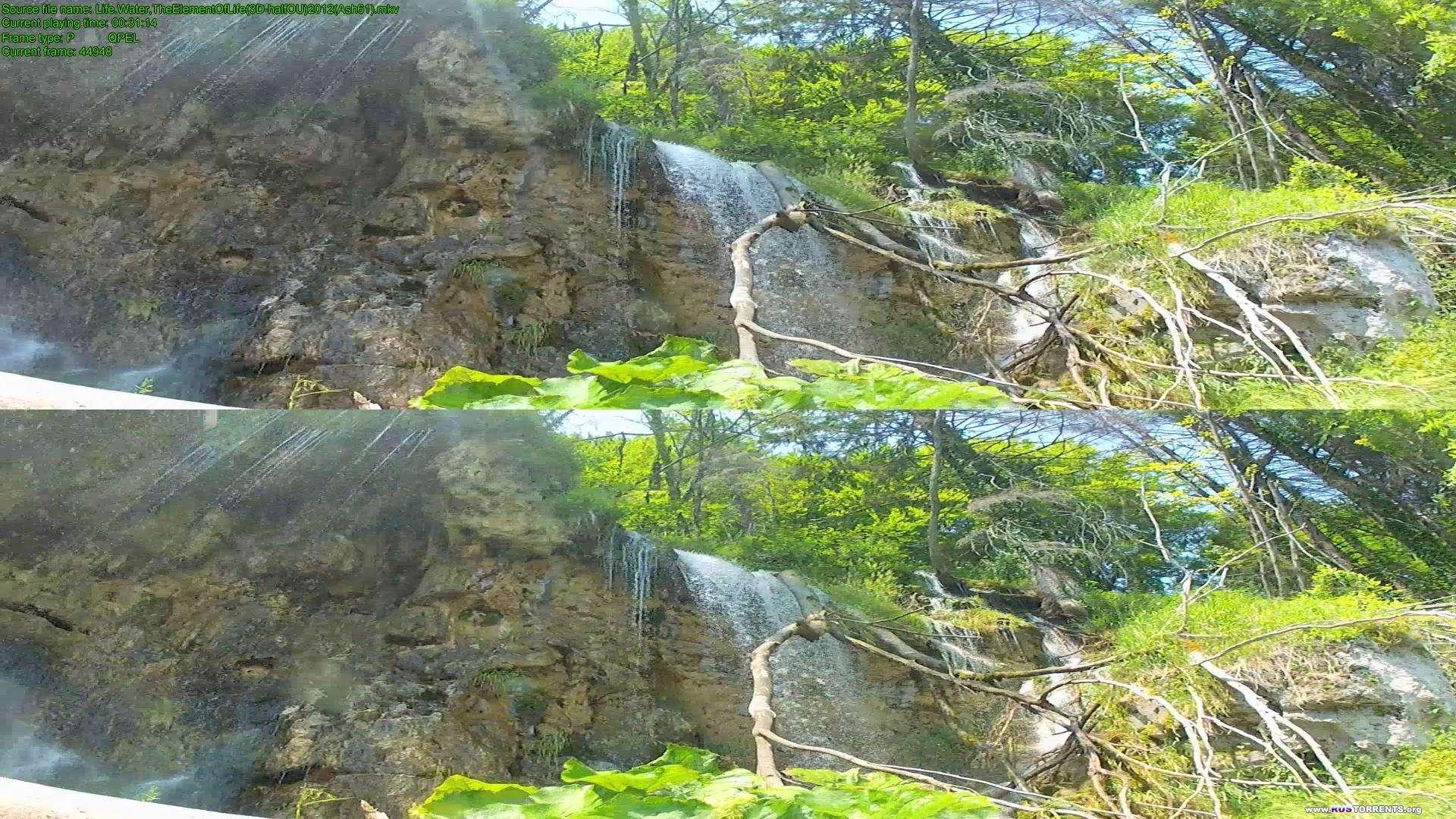 Жизнь: Вода – основа жизни | BDRip 1080p | 3D-Video | halfOU