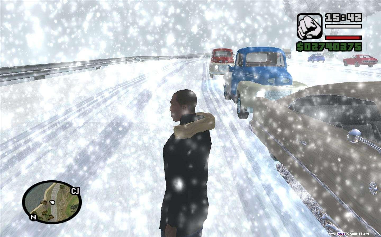 GTA san andreas -наступила зима
