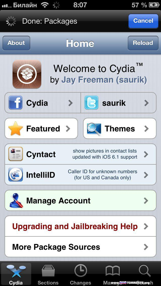 Джейлбрейк iOS 6.1 от Evad3rs v 1.4 (Windows) [6.1+jailbreak]