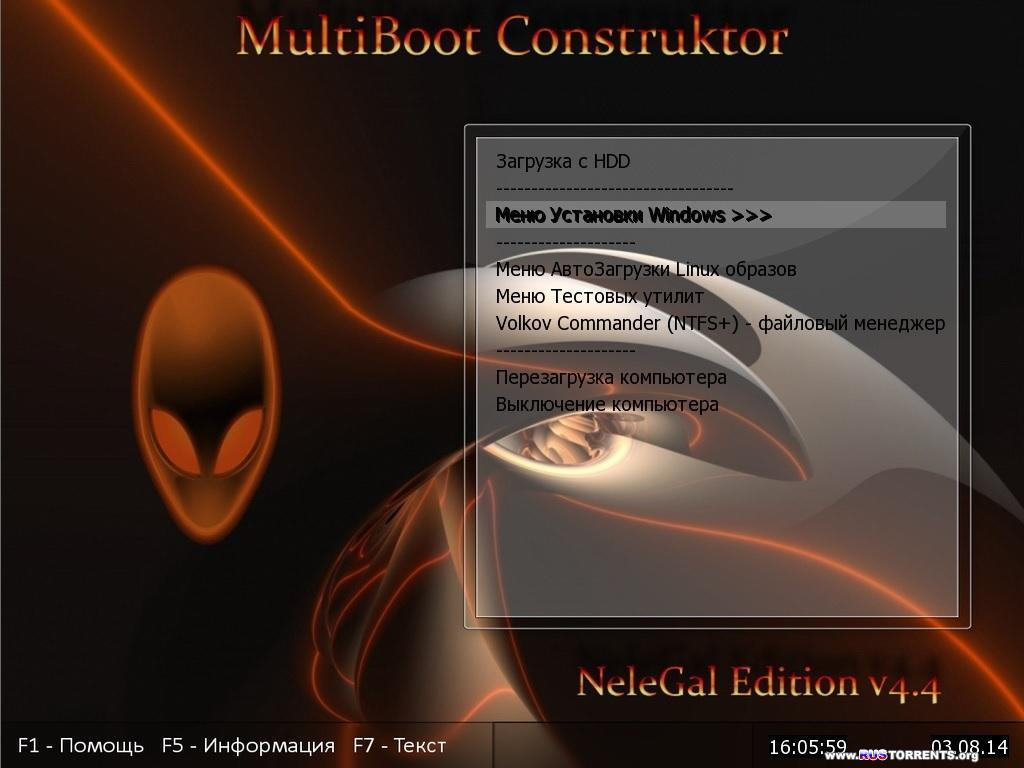 Multiboot USB Flash NeleGal Edition UEFI v.4.4 �86/�64 | PC