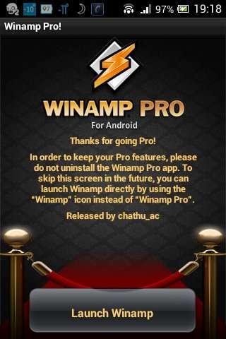 Winamp Pro v2.0.1147 | Android