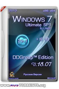 Windows 7 Ultimate SP1 x86/x64 DDGroup™ Edition v.18.07 RUS