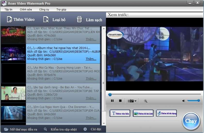 [Việt hóa] Aoao Video Watermark Pro 5.1 - Đóng dấu bản quyền cho video